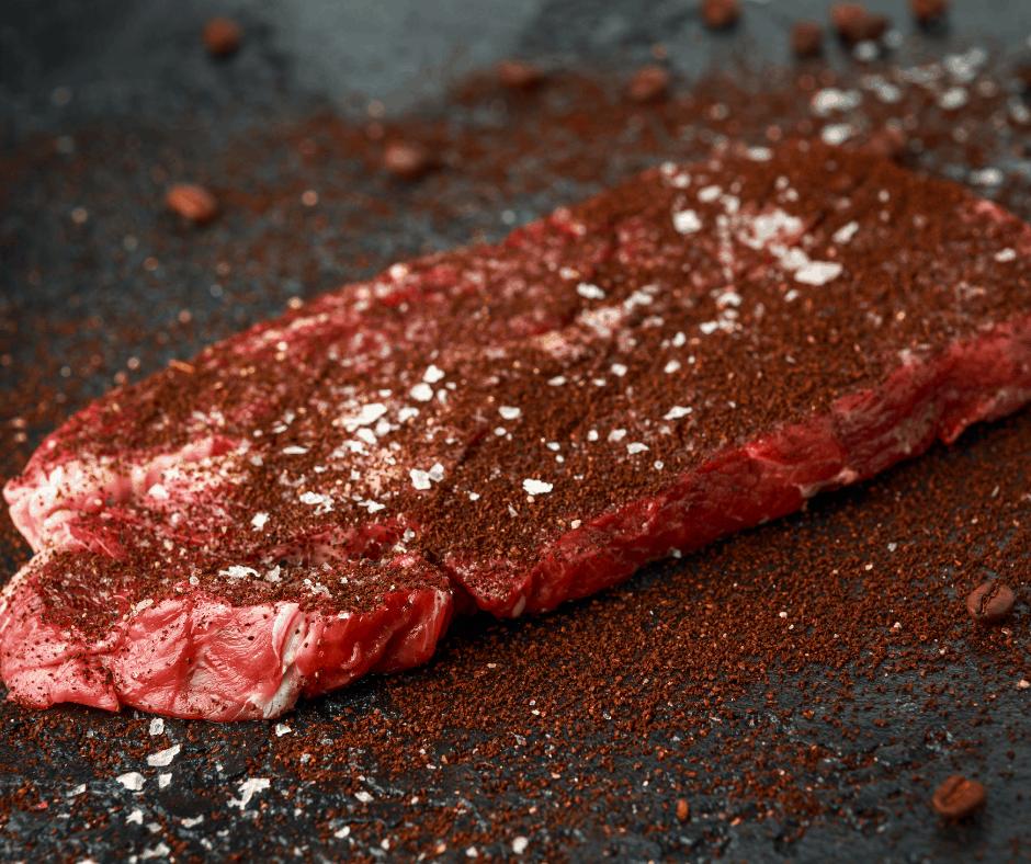 steak with coffee rub
