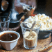 coffee served with popcorn